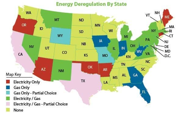 Energy Deregulation Information by State